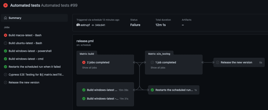 Automatically restart the flow when it failed