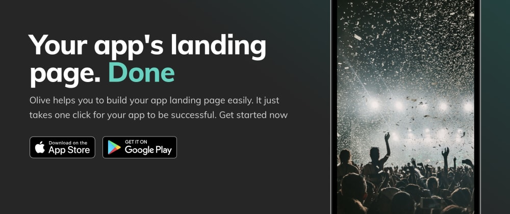 Cover image for Build your mobile app landing page with Olive