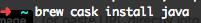installing OpenJDK using brew