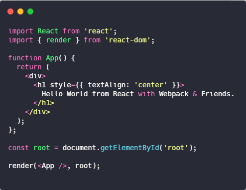 How to configure React with Webpack & Friends from the
