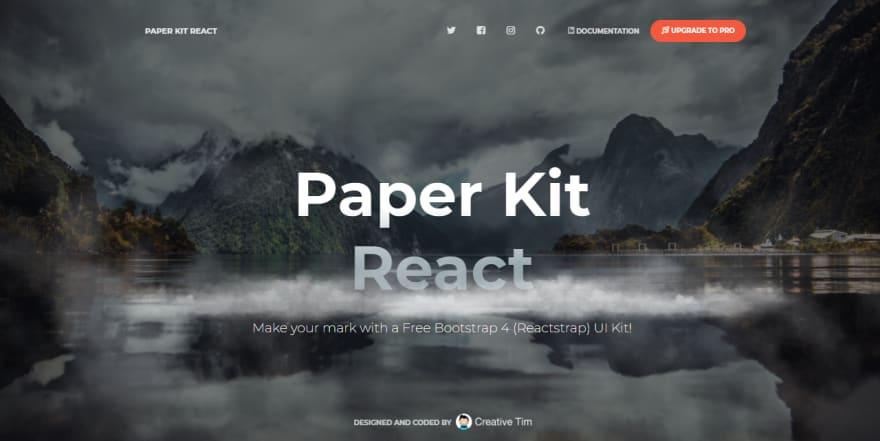 Free Template - Paper Kit React.
