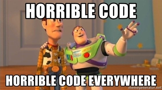 Horrible code everywhere