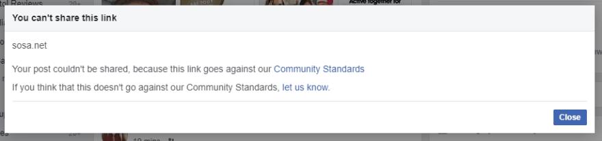 Facebook being mean :(