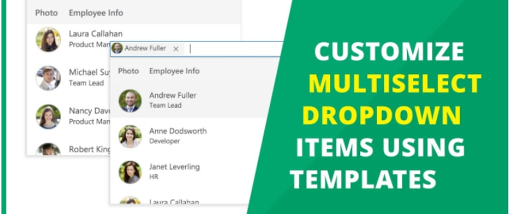 Cover image for Customize MultiSelect Dropdown Items Using Templates