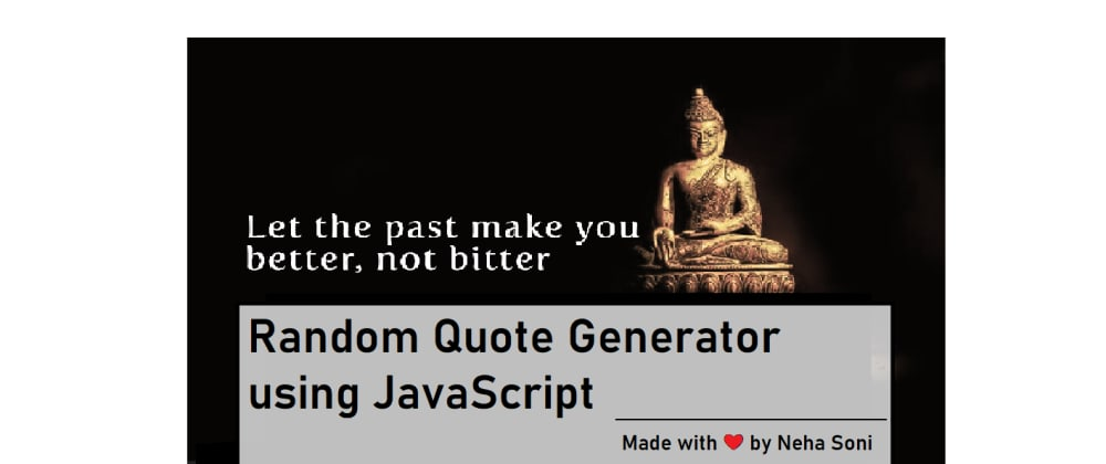 Cover image for Random Quote Generator Using HTML, CSS, and JavaScript