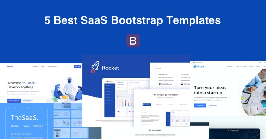 Top 5 SaaS Bootstrap Templates