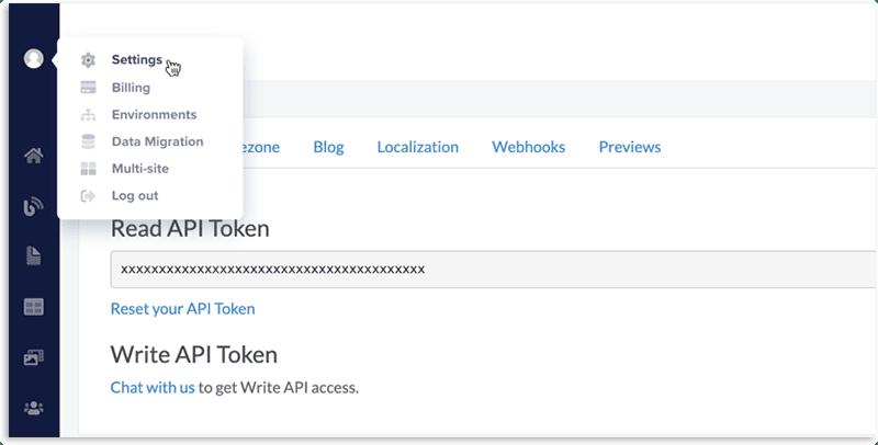 ButterCMS API Token