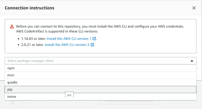 AWS is giving very straightforward connection instruction