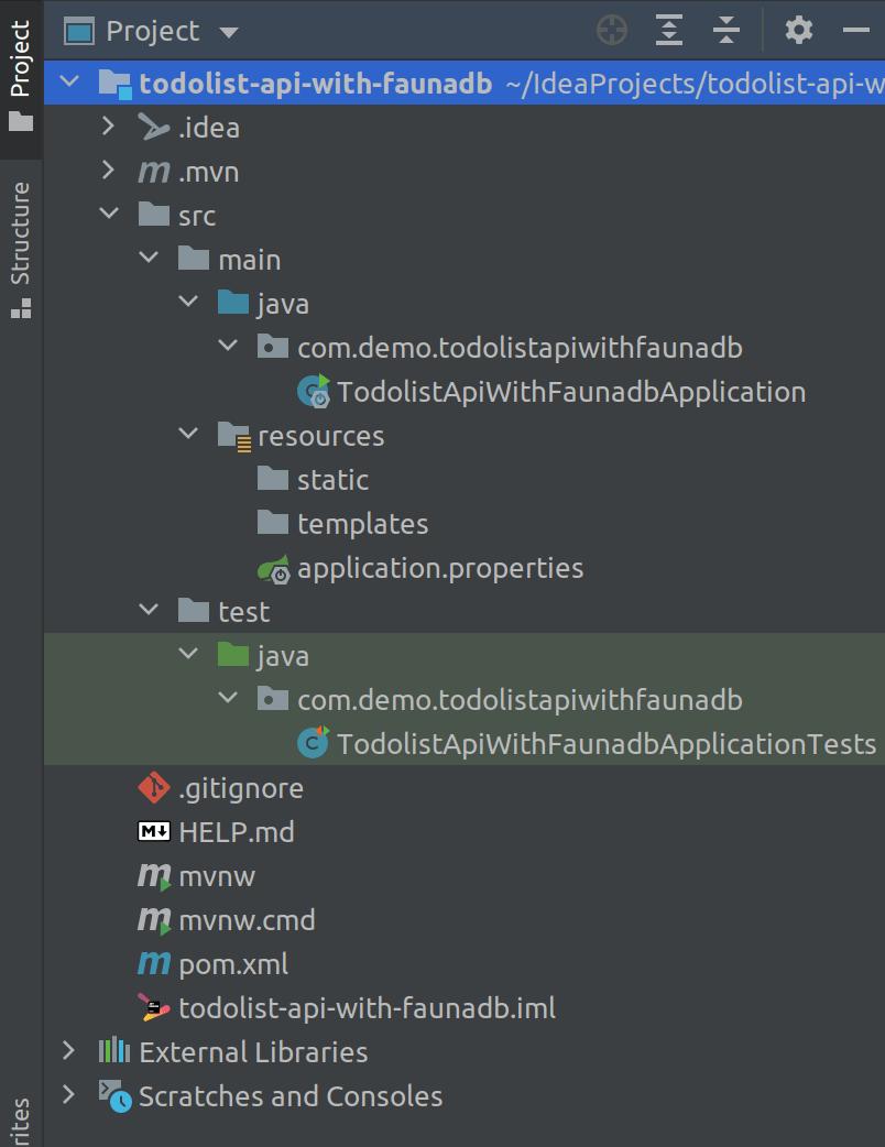 Current project structure on IntelliJ Idea