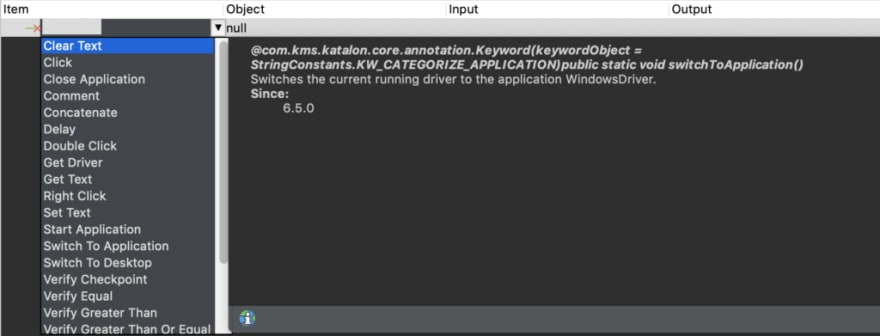 Windows built-in and custom keywords Katalon