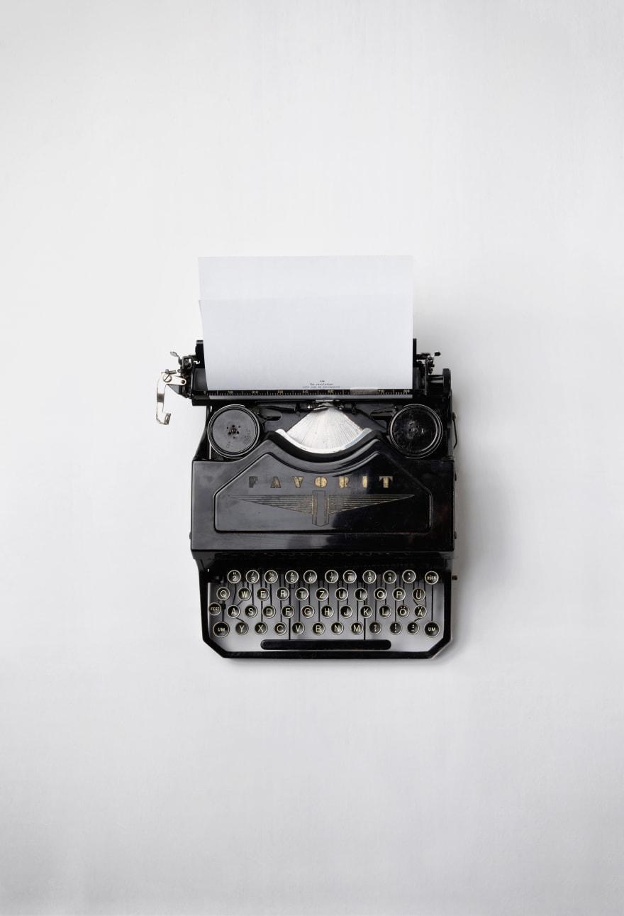 Photo: Typing machine