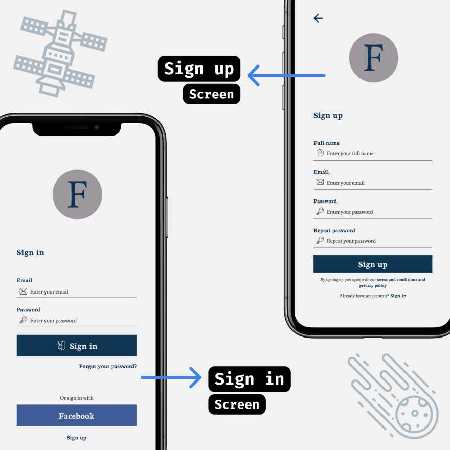 Formal Barber booking app - Sign in and Sign up screens