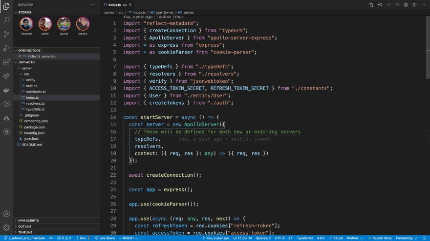 vs code stories in action