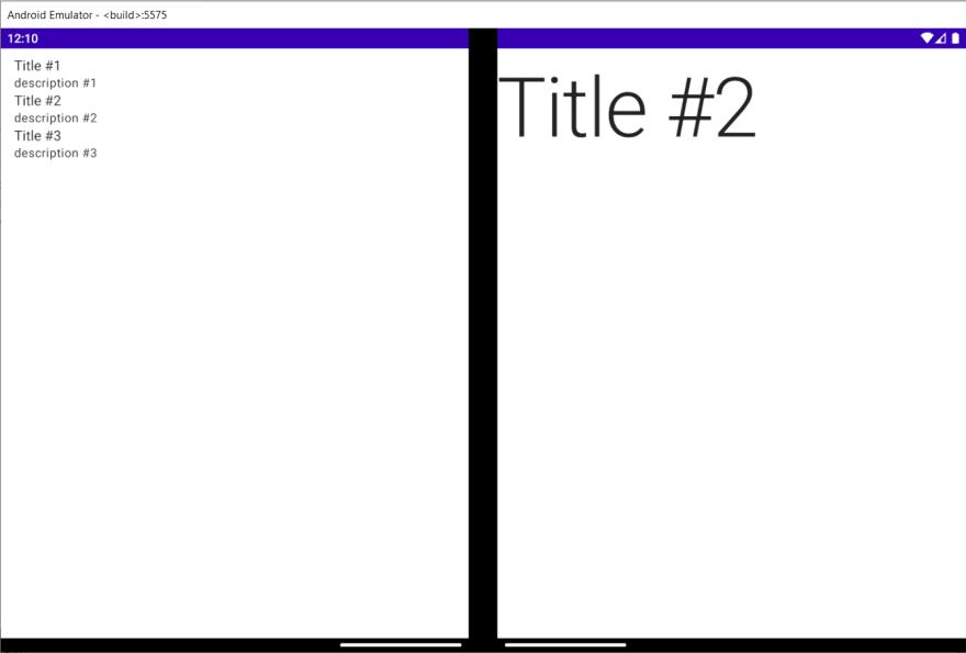 Sample app honoring the hinge