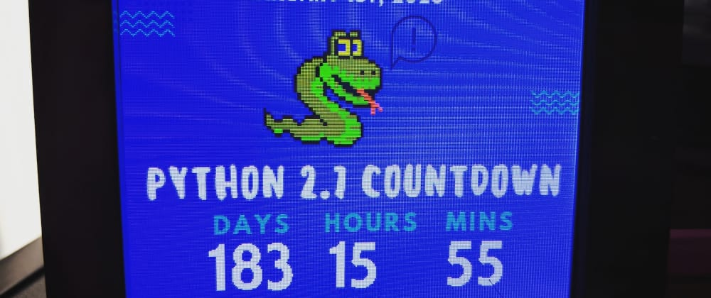 Cover image for A Desktop Python 2.7 Countdown Timer with CircuitPython and PyPortal