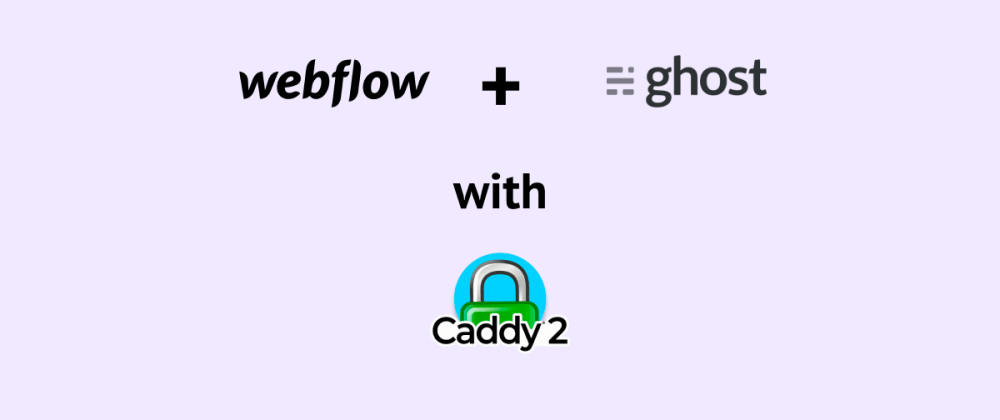 Cover image for Webflow + Ghost blog with Caddy