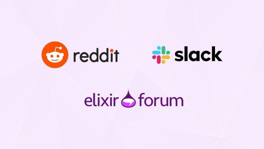 Slack, Reddit, Elixir Forum logo
