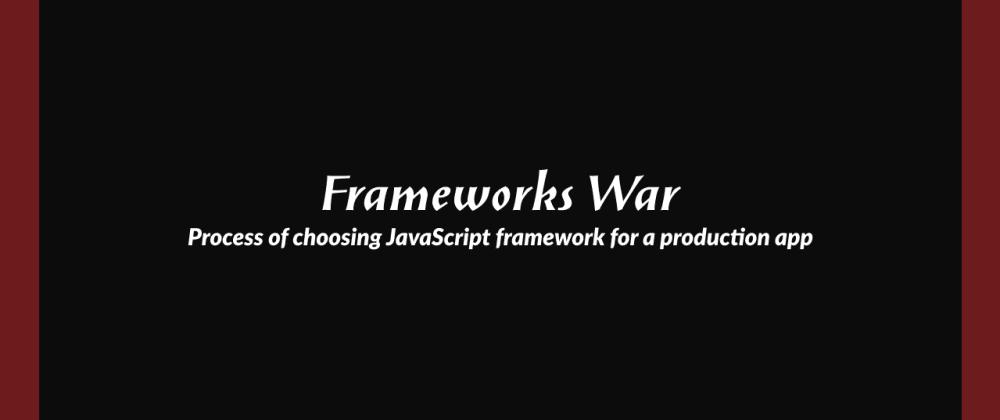Cover image for Frameworks War