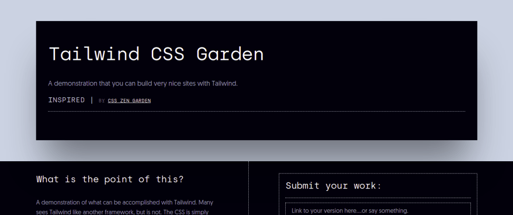 Cover image for Tailwind CSS Garden.