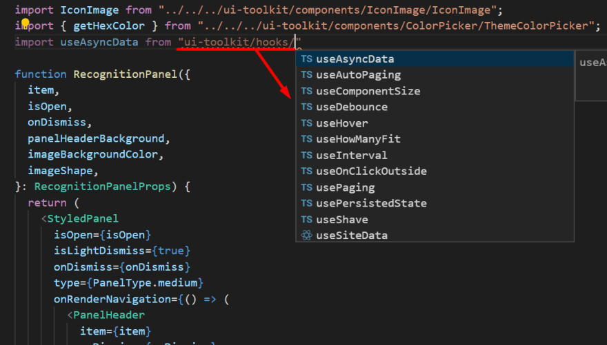 VS Code Autocompletion