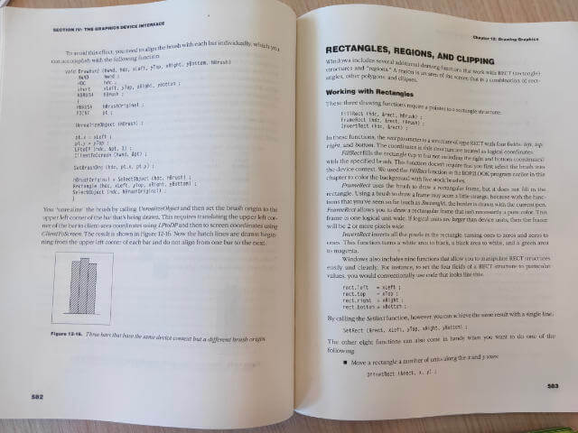 Section in DA BOOK on rendering rectangles