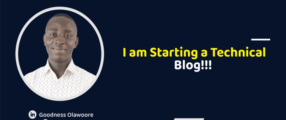 Cover image for I am starting a technical blog!!!