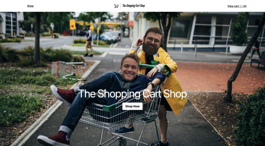 Django e-commerce homepage