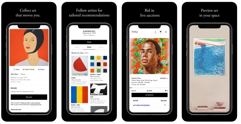 React Native apps: Artsy app screenshots