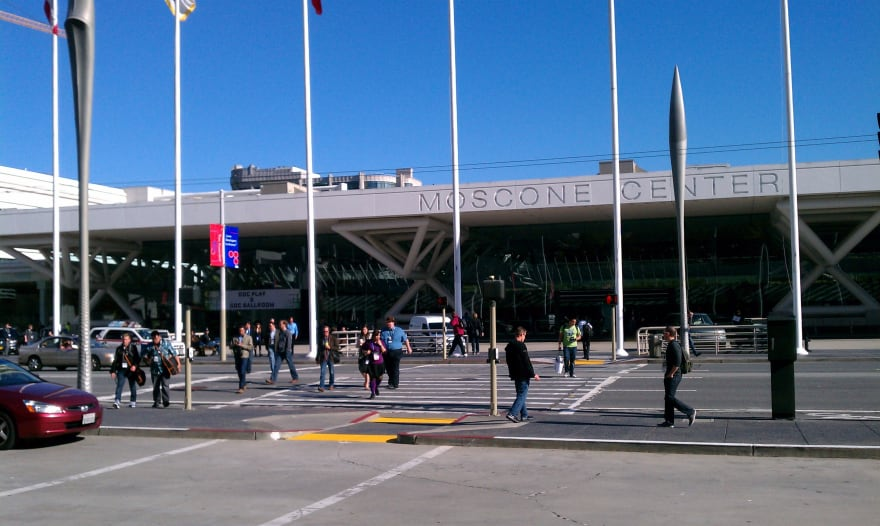 Entrance to the Mascone Center for GDC 2012