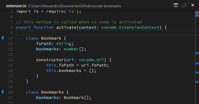 Bookmarks in action