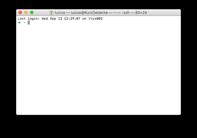 Terminal on a Mac