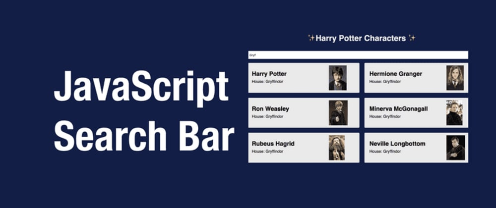 Cover image for Build a JavaScript Search Bar