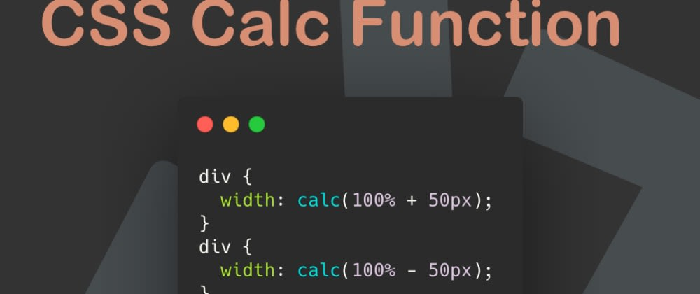 Cover image for CSS Calc Function