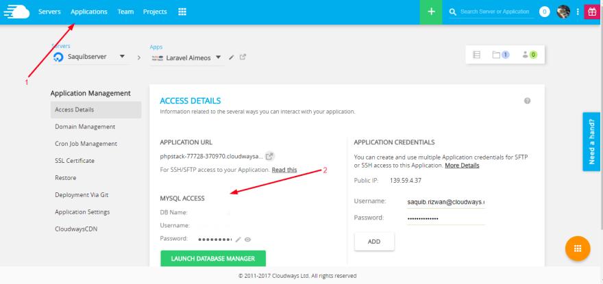 App Access Details