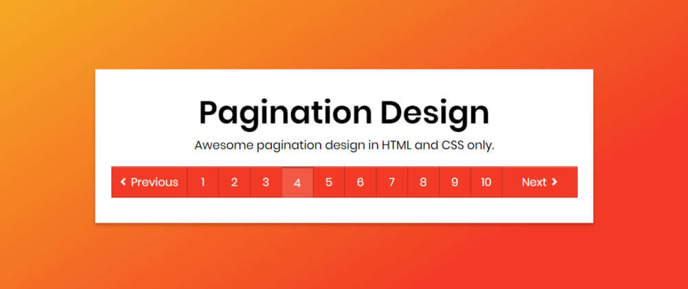 Cover image for Awesome Pagination Design in HTML & CSS