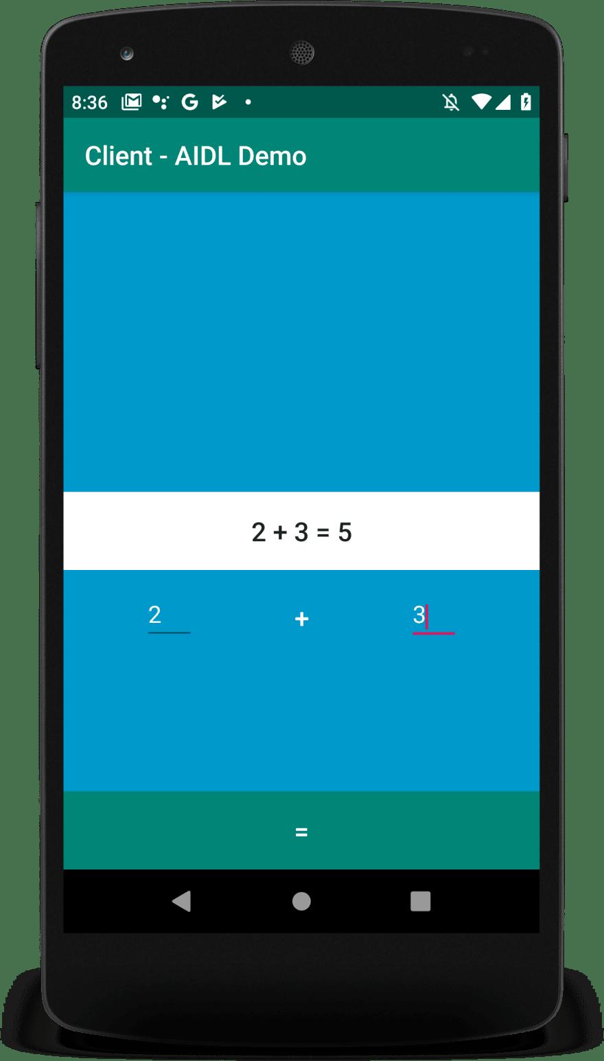 Client App Screenshot