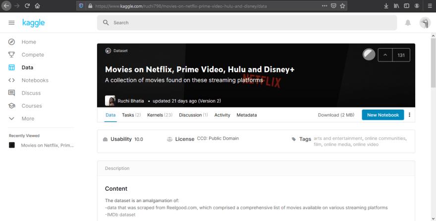 kaggle movies