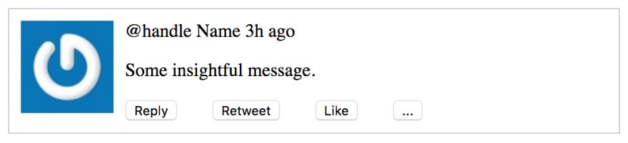 Tweet with margins