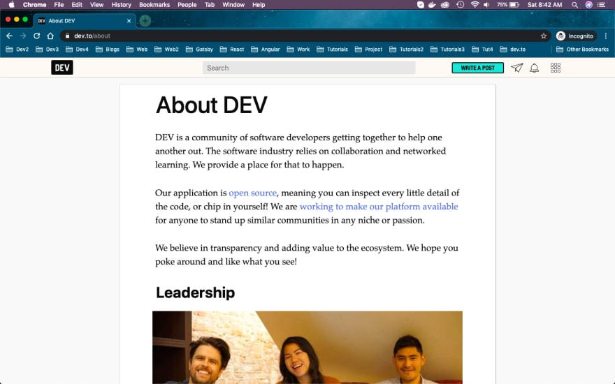 About dev