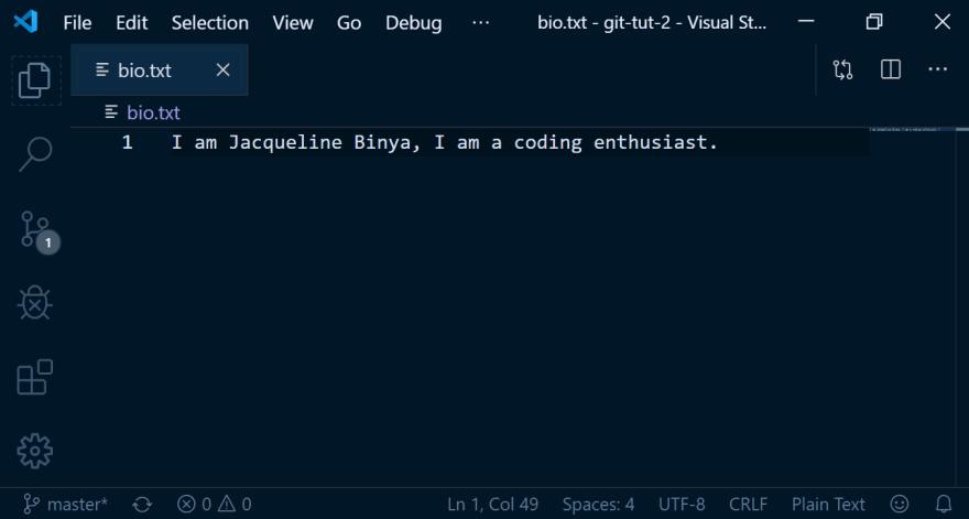 screenshot of codeblock