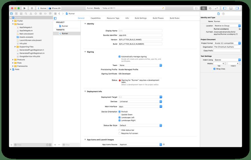 update Bundle identifier in Xcode