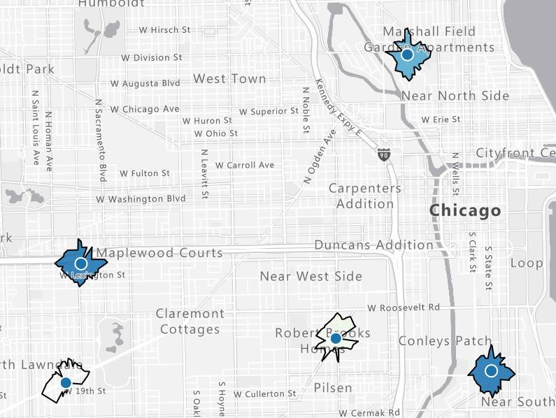 isochrone in Chicago