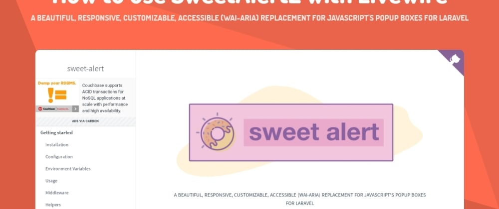 Cover image for How to use SweetAlert2 with Livewire