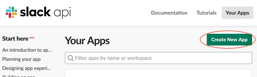 Create a new Slack App