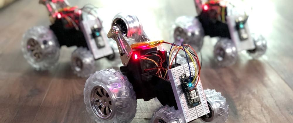 Cover image for Learn about mesh networking by building this swarm of Particle-powered robots