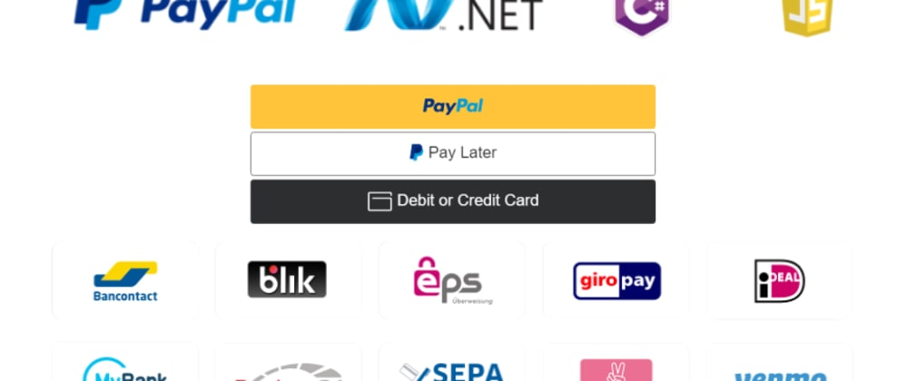 Cover image for Accept payments with PayPal in ASP.NET & C# - ASP.NET Web Forms || ASP.NET Core MVC