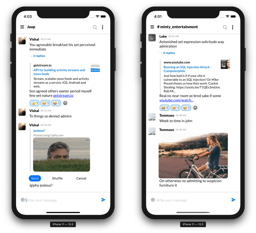 Stream Chat Slack Clone