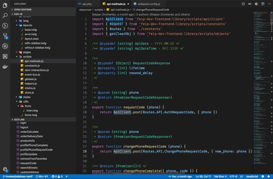 VSCode Dark+ theme screenshot