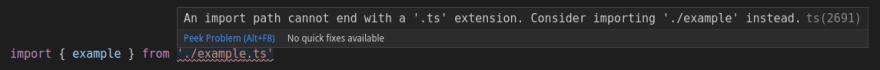 TypeScript Extension Problem