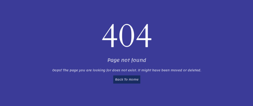 Cover image for Bootstrap Error Page